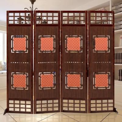 時尚屋 中國風歐尼6尺實木屏風 寬180cm-免組