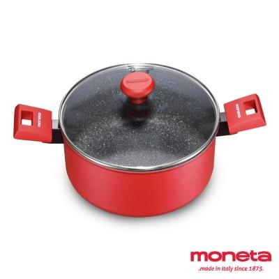 義大利MONETA天然紅石系列湯鍋組24cm(附蓋)