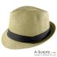 A-Surpriz 簡約個性風尚伸士帽(淺咖