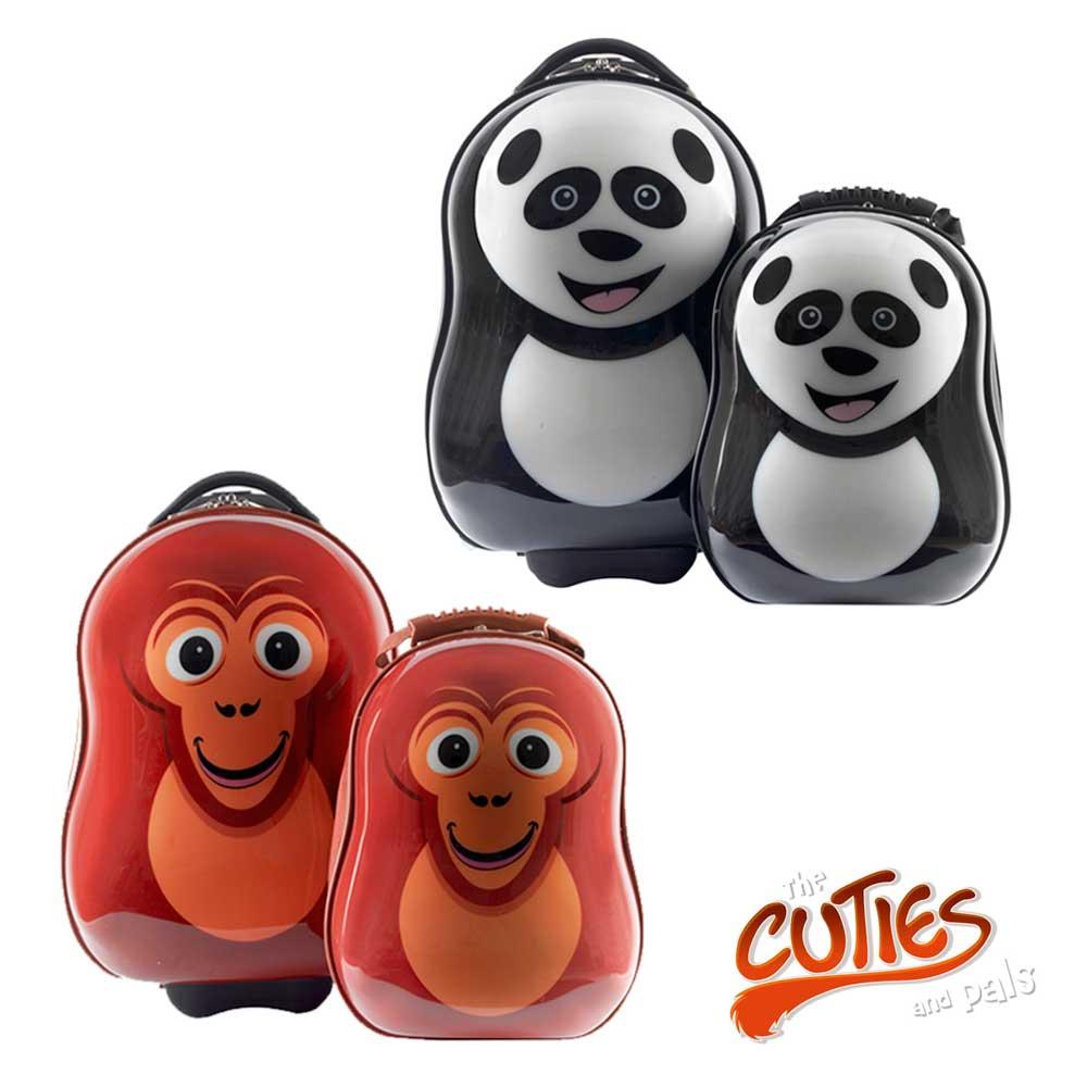 【限時5折下殺】英國Cuties&pals 可愛動物旅行背包組  (13吋背包+17吋旅行箱)