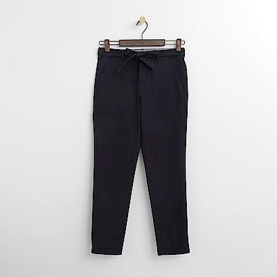 Hang Ten - 女裝 - 綁帶錐版修身長褲-深藍色