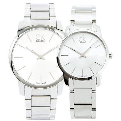 CK  都會雅痞極簡對錶(K2G21126.K2G23126)-銀白/43.31mm
