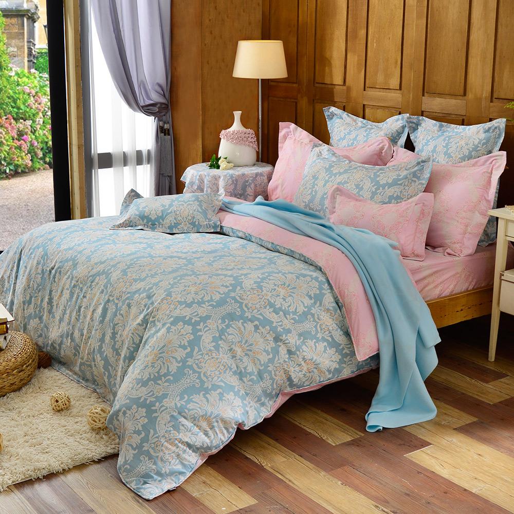 義大利La Belle 單人純棉防蹣抗菌吸濕排汗兩用被床包組-聖愛丁堡