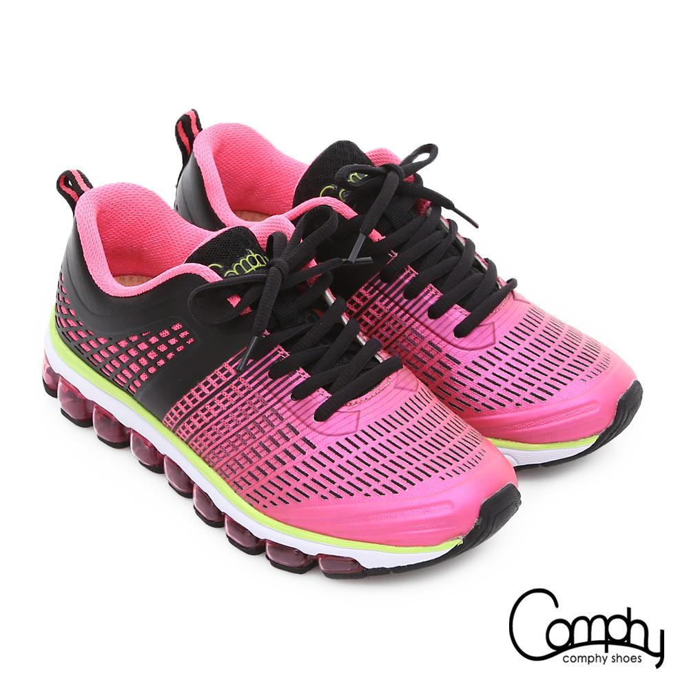 Comphy 3D霸氣囊 透氣網布奈米健走運動鞋 粉紅色