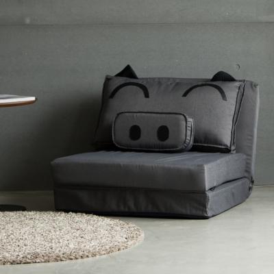 Home Feeling QQ豬單人沙發床/和室椅/沙發(4色)