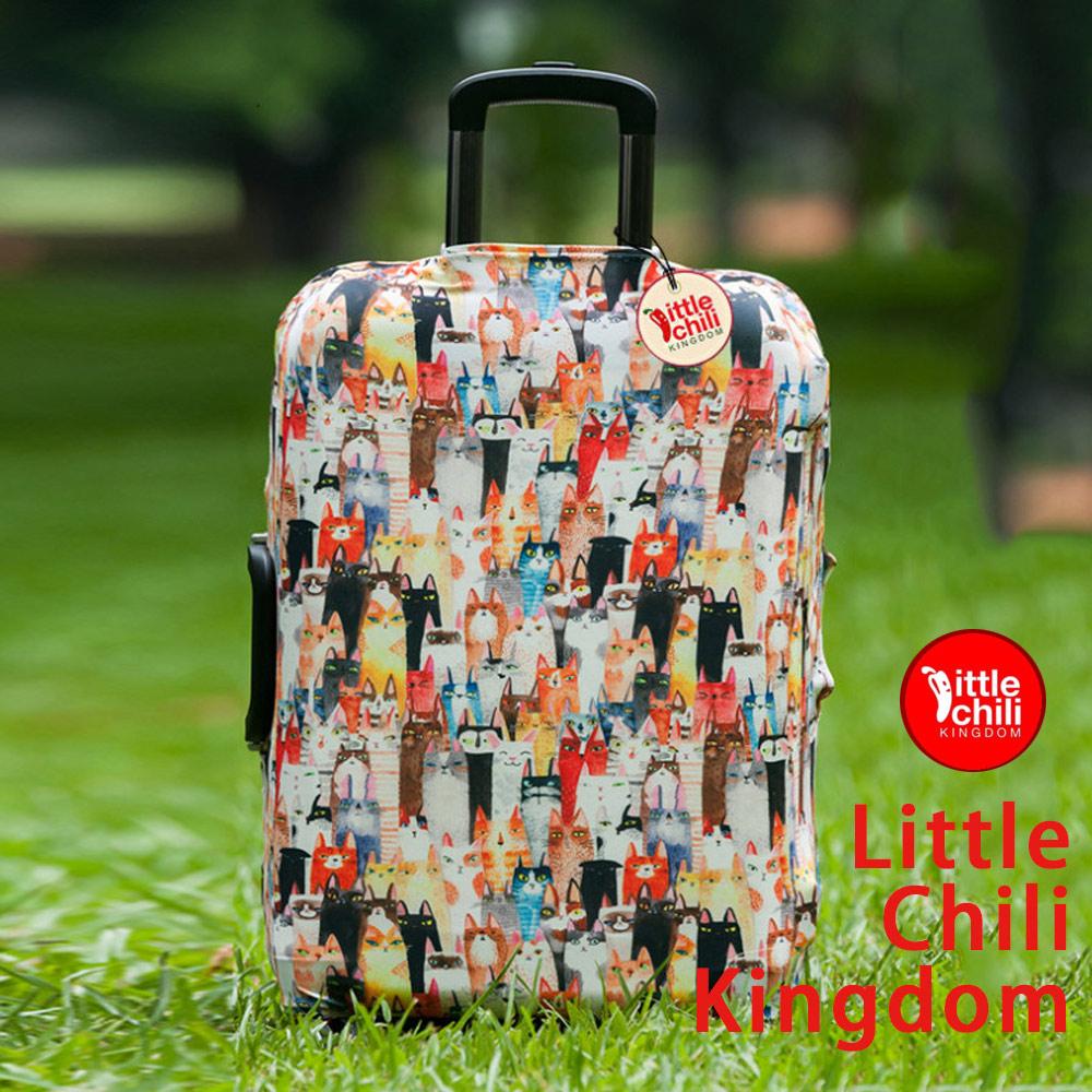 LittleChili行李箱套508-貓咪-L