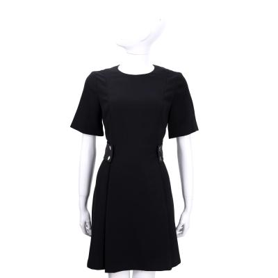 MICHAEL KORS 黑色羊皮腰飾短袖洋裝(腰飾可拆)