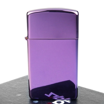 【ZIPPO】美系~超質感Abyss紫色鏡面打火機