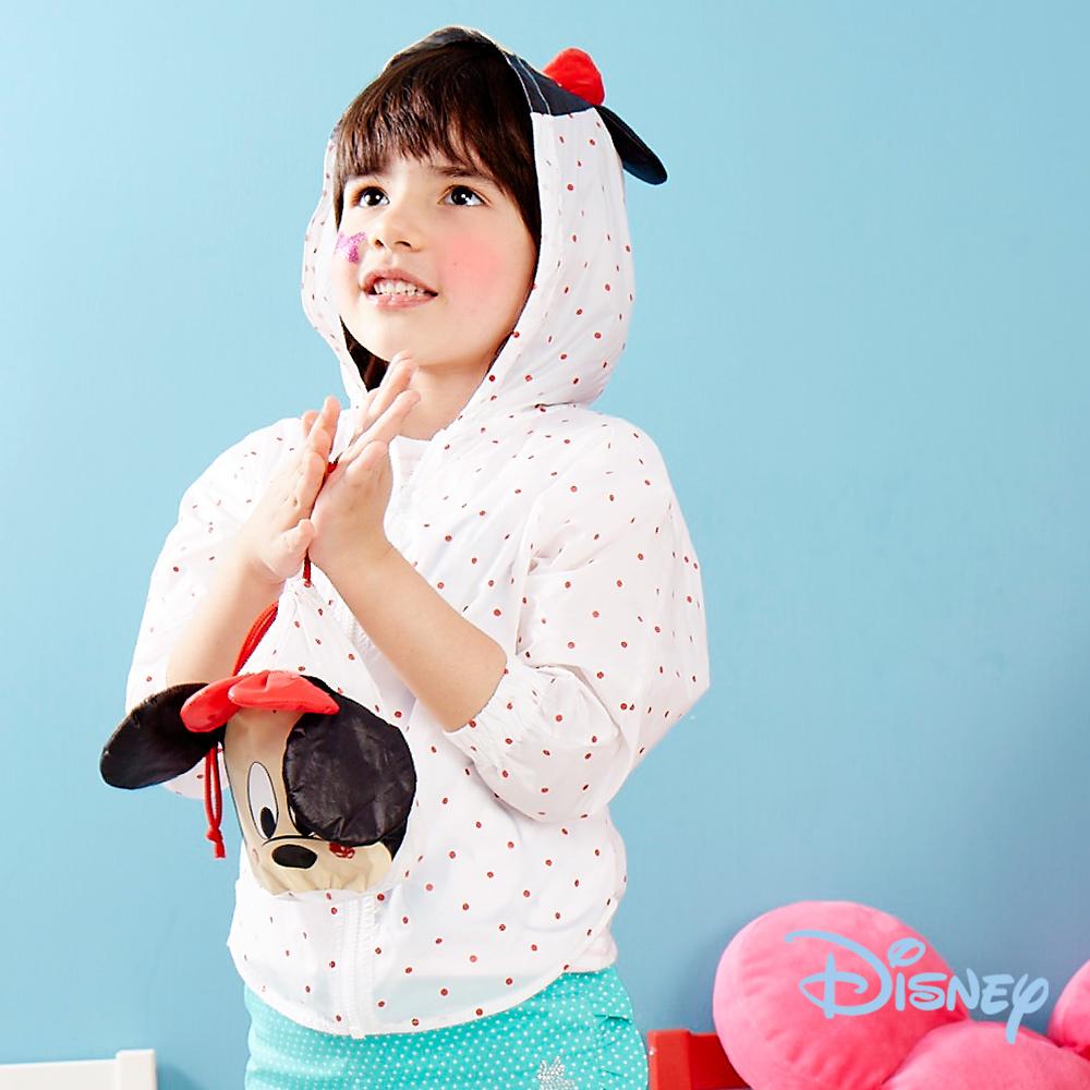 Disney俏皮米妮連帽風衣白色