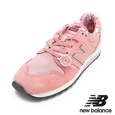 New Balance復古鞋WL520AA-B女性粉紅