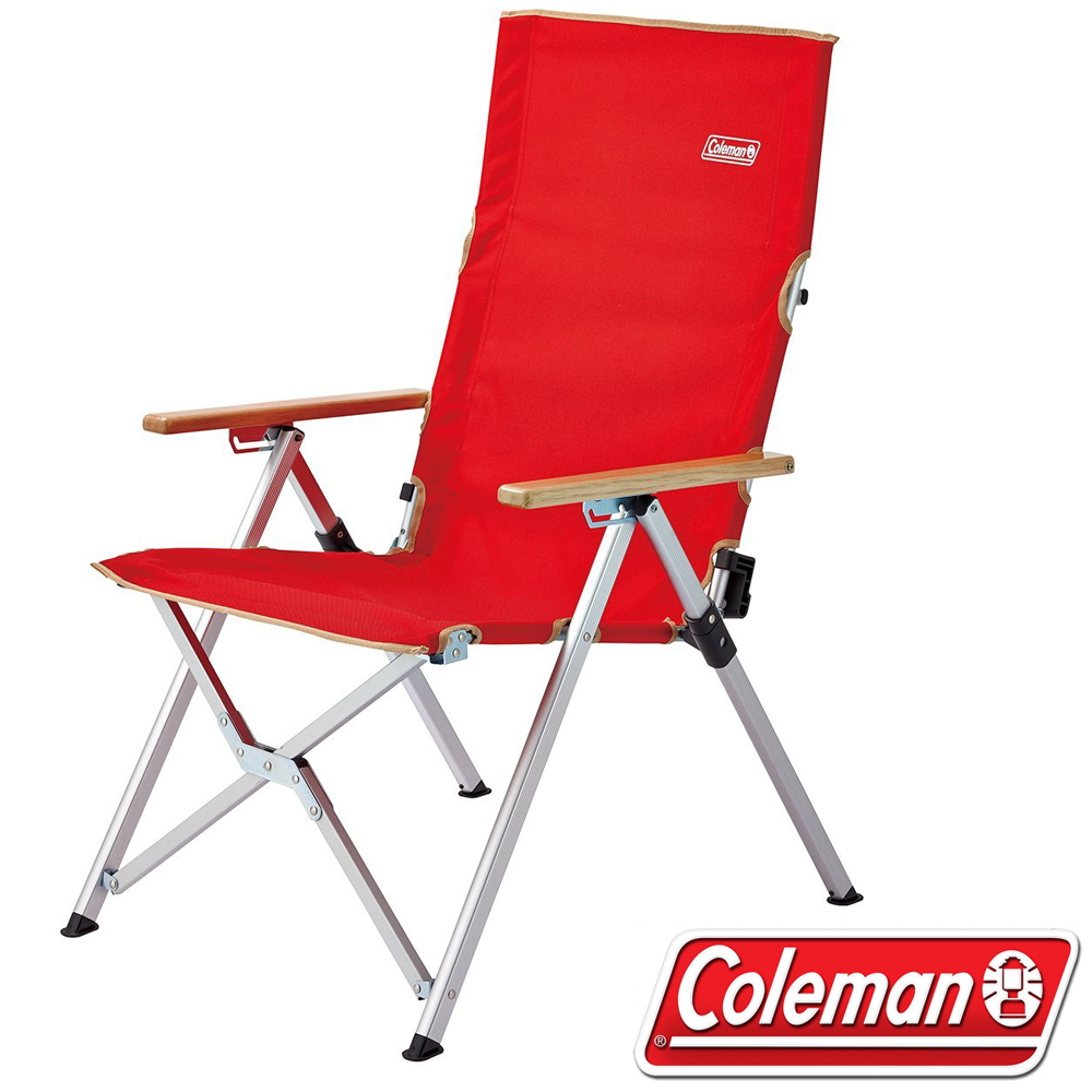 Coleman CM-26744 LAY躺椅/紅 3段可調式躺椅/輕量露營椅/高背休閒椅/