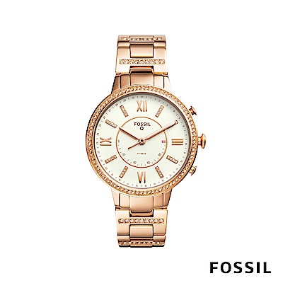 FOSSIL Q VIRGINIA 晶鑽款智慧手錶-玫瑰金