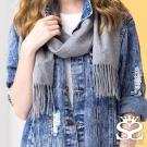 SOFER 喀什米爾羊毛圍巾 - 中灰