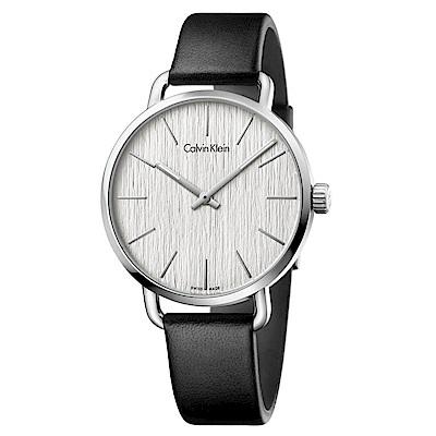 CK CALVIN KLEIN Even 超然系列木質紋銀色面盤手錶-42mm