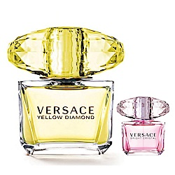VERSACE凡賽斯 香愛黃鑽 女性淡香水 90ML+香戀水晶小香5ML