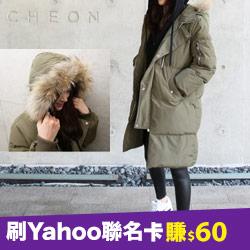 正韓超保暖80%鴨絨浣熊毛外套