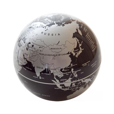 賽先生科學自轉地球儀-銀黑