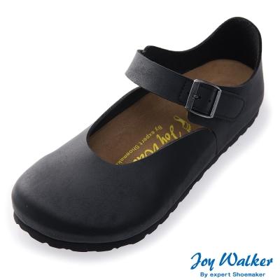 Joy Walker 休閒魔鬼沾釦帶包鞋*黑色
