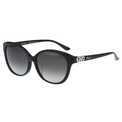 Salvatore Ferragamo- 時尚太陽眼鏡(黑色)