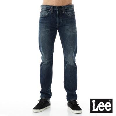 Lee 牛仔褲101+  707 中腰標準合身小直筒牛仔褲-男款-藍色