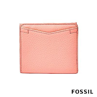 FOSSIL CAROLINE 迷你短夾-螢光粉橘