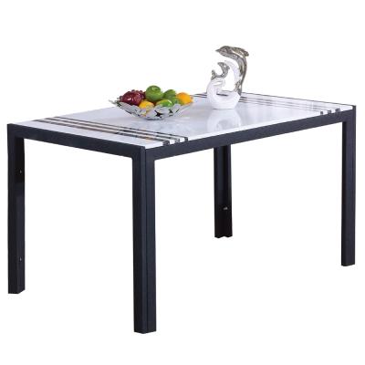 AT HOME-羅禮士4.6尺黑色漢白玉原石餐桌