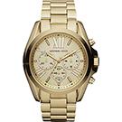 Michael Kors 羅馬假期三眼計時腕錶-金