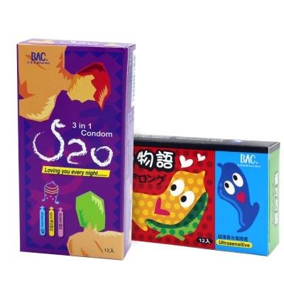 BAC倍爾康 520 三合一+超薄香水保險套組(共24入)
