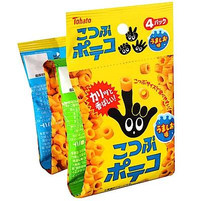 東鳩 4連迷你手指圈圈餅-鹽味(64g)
