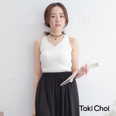 東京著衣 背交衩V領針織背心(共五色)