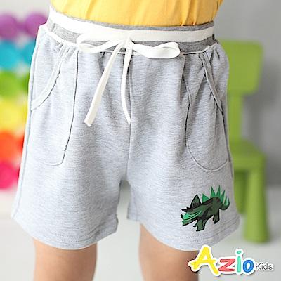 Azio Kids 短褲 迷彩恐龍雙口袋短褲(灰)