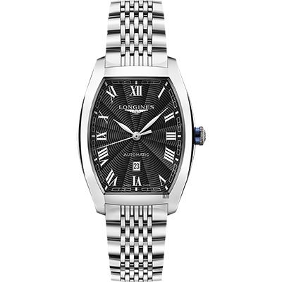 LONGINES 浪琴 Evidenza 典藏系列機械錶-黑x銀/30.5mm