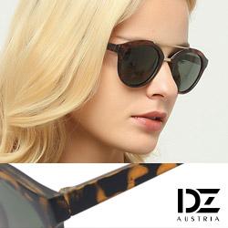 DZ 復古霧金雙樑 抗UV 太陽眼鏡墨鏡(玳瑁系)