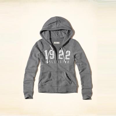 Hollister 經典文字蕾絲設計連帽外套(女)-灰色 HCO