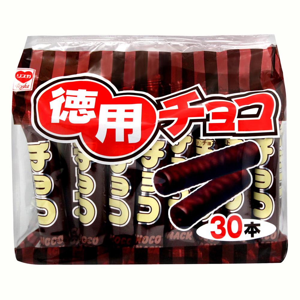 日本滿屋 德用濃郁巧克力棒(30入x3包)
