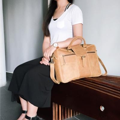 CALTAN - 男女用真皮公事包 電腦包 手提包 肩背包 兩用包-5124ht
