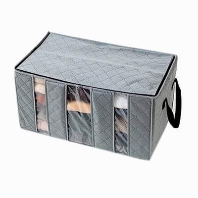 iSFun 透視竹炭 三格收納衣物整理箱65L 四色可選60x30x34cm