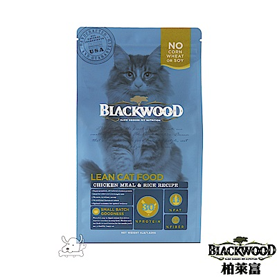 BlackWood 柏萊富 特調成貓低卡保健配方(雞肉+米)13.2磅(6公斤)X 1包