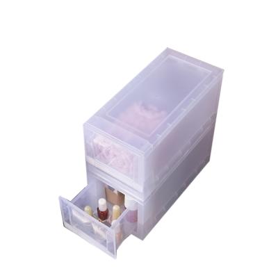 創意達人柯芬淺型A6系統式抽屜收納箱2入