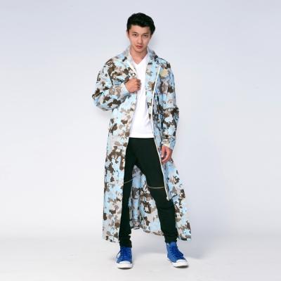RAINSTORY藍調迷彩連身雨衣(XL號)