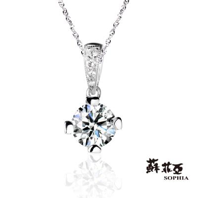 蘇菲亞SOPHIA-鑽鍊-薔薇0-50克拉鑽石項鍊