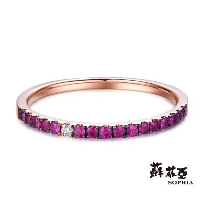 蘇菲亞SOPHIA 鑽戒 - 簡約剛玉鑽石線戒