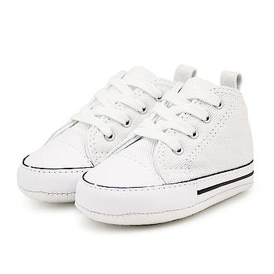 CONVERSE-First Star Crib嬰兒鞋-白