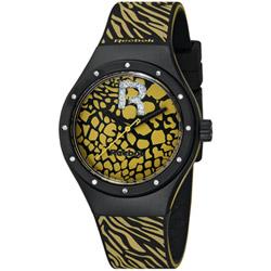 Reebok ROAR動物紋時尚腕錶-黃/37mm