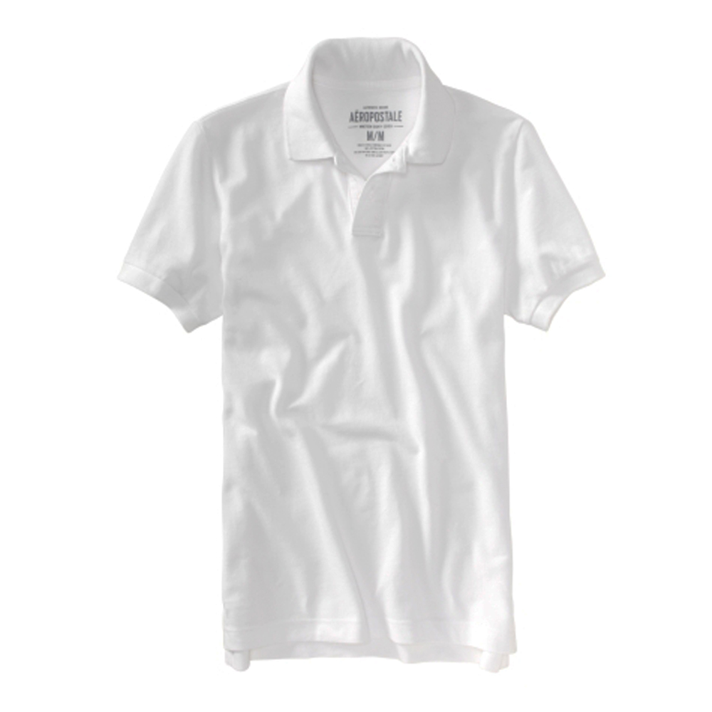 AERO 男裝 現貨 素面POLO短衫(白)