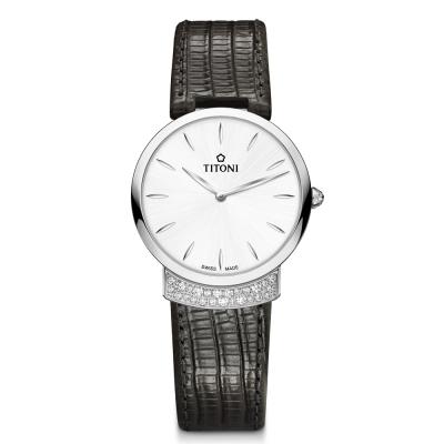 TITONI瑞士梅花錶 優雅伊人系列(TQ 42912 S-ST-590)銀白/32mm