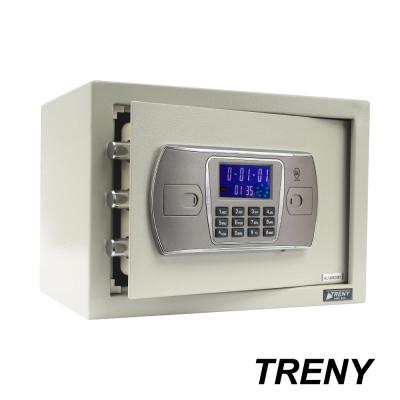 TRENY三鋼牙 新液晶雙鑰匙保險箱 中 3406