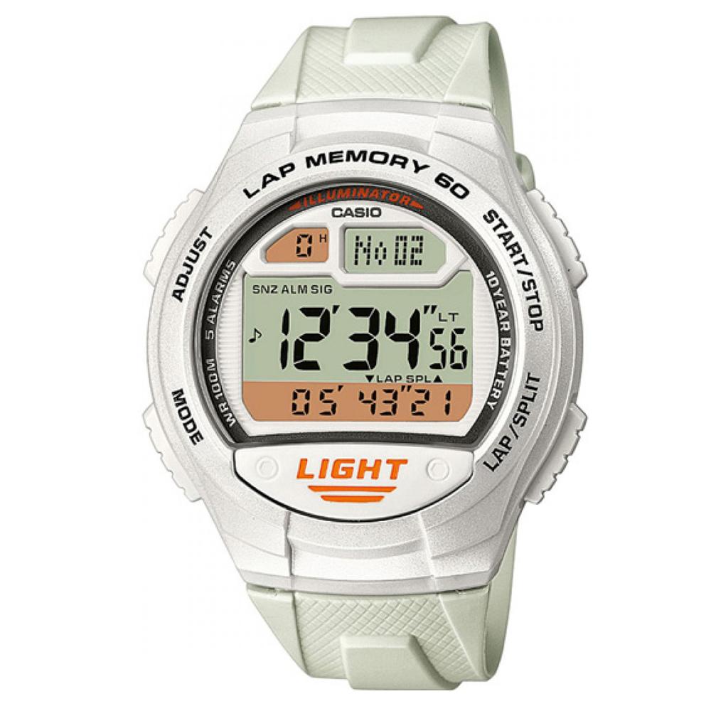 CASIO 世紀戰魂電子推動錶-白/42.4mm