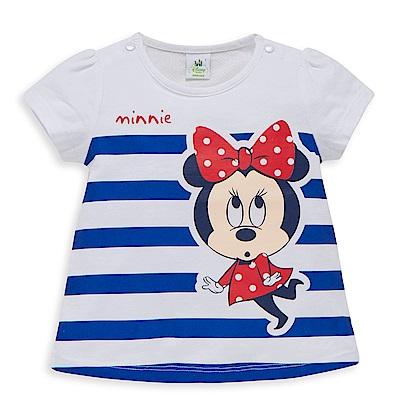 Disney baby米妮系列條紋泡袖圓領上衣 (2色可選)