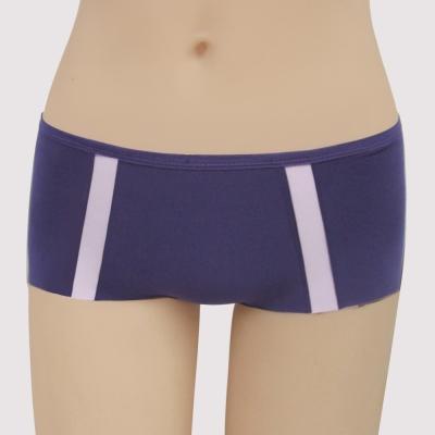 瑪登瑪朵 浪漫法式無痕  低腰平口無痕內褲(時尚紫)